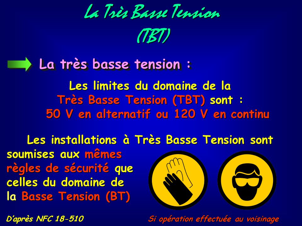 La Très Basse Tension (TBT)
