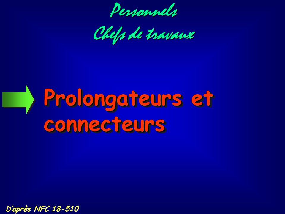 Prolongateurs et connecteurs