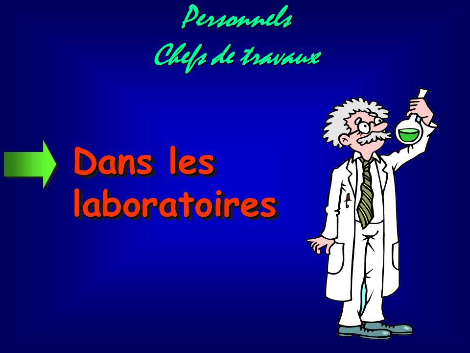 Personnels Chefs de travaux Dans les laboratoires