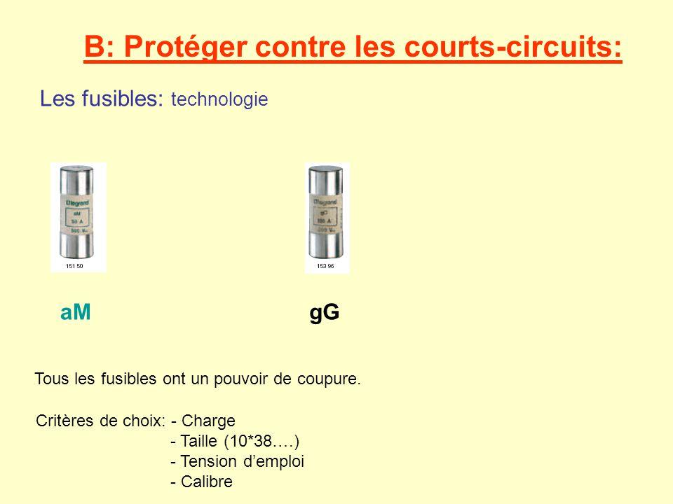 B: Protéger contre les courts-circuits: