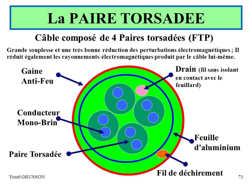 Câble composé de 4 Paires torsadées (FTP)