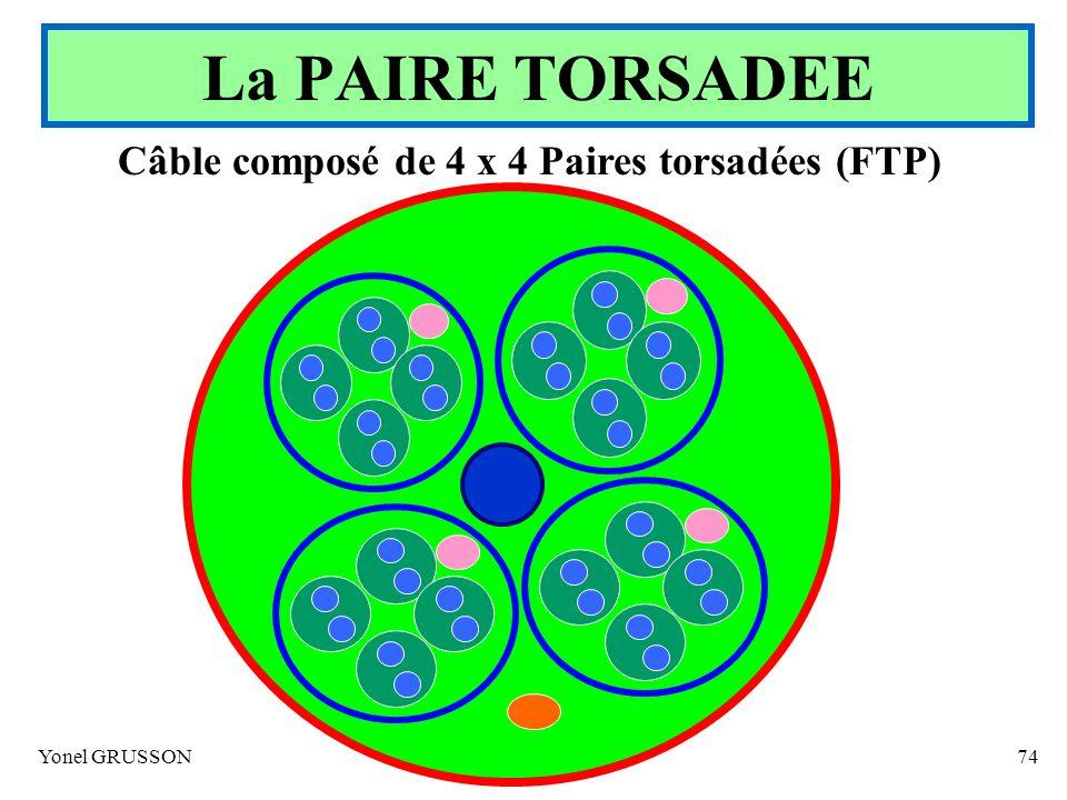 Câble composé de 4 x 4 Paires torsadées (FTP)