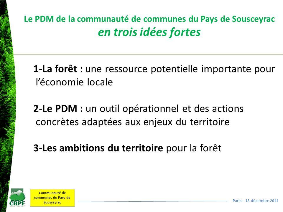 Le PDM de la communauté de communes du Pays de Sousceyrac