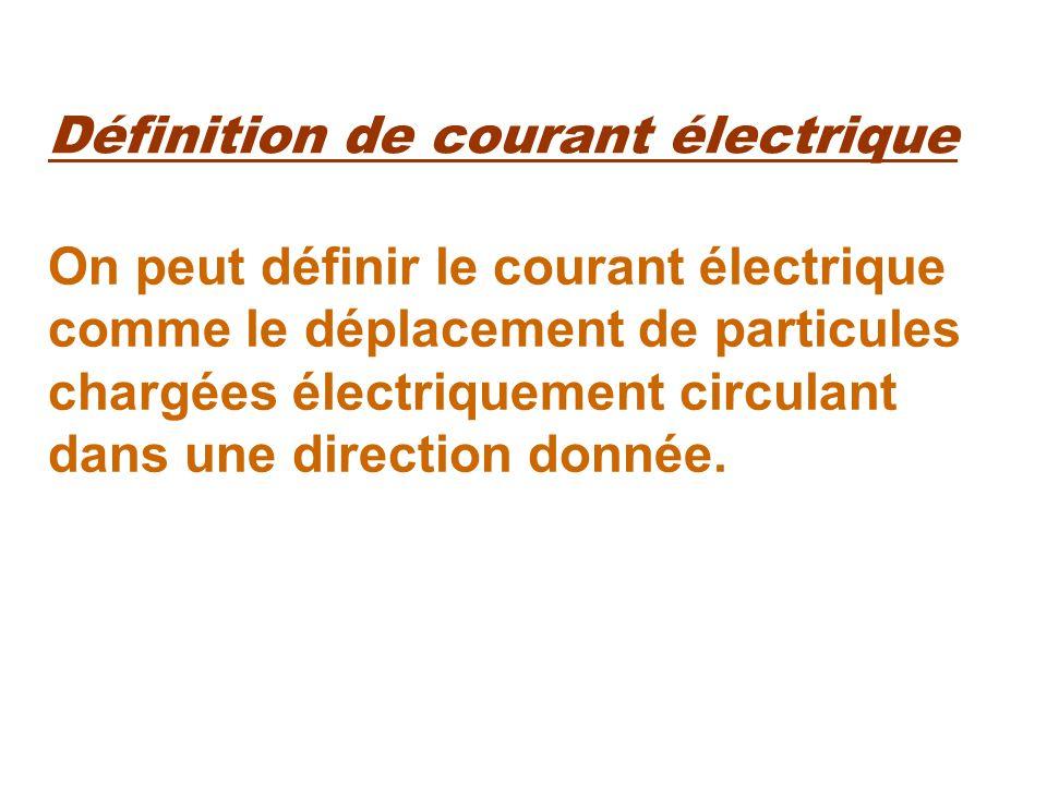 Définition de courant électrique