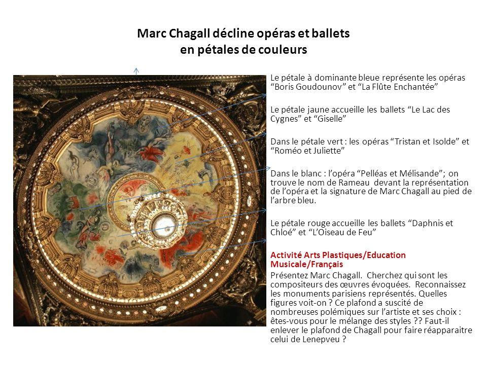 Marc Chagall décline opéras et ballets en pétales de couleurs