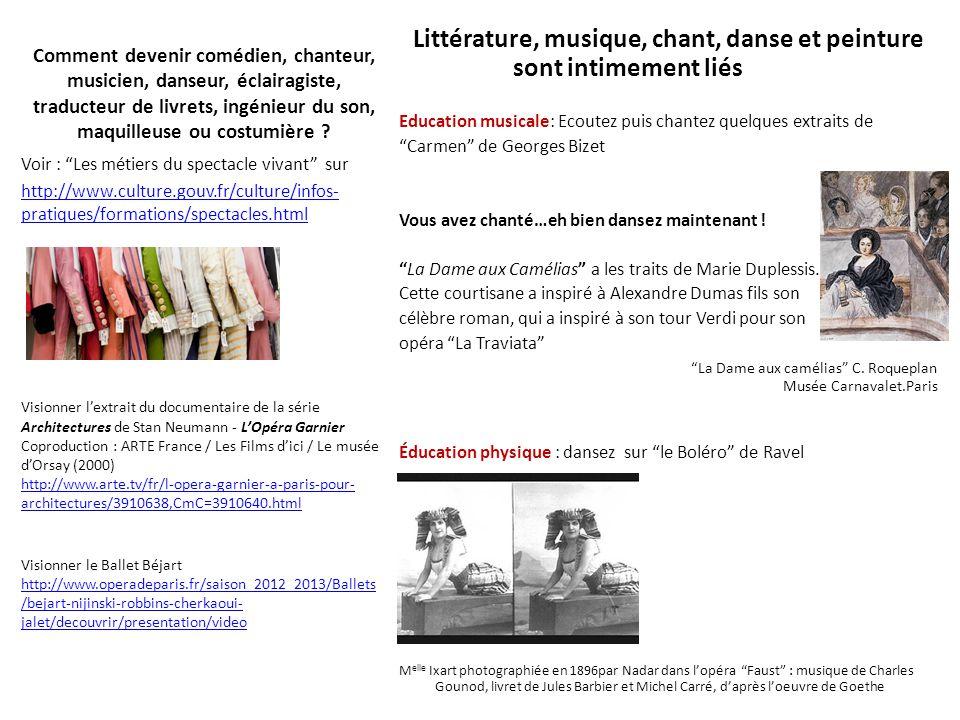 Littérature, musique, chant, danse et peinture sont intimement liés