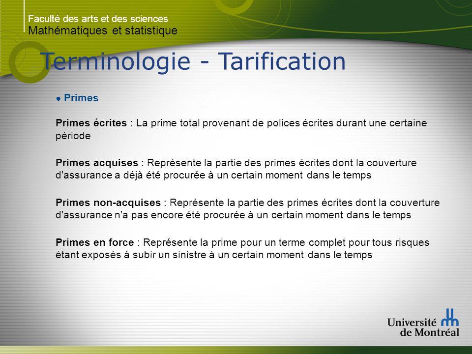 Terminologie - Tarification
