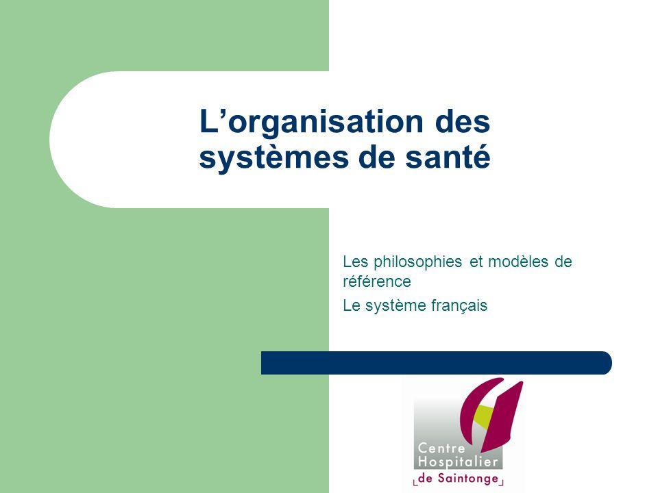L'organisation des systèmes de santé