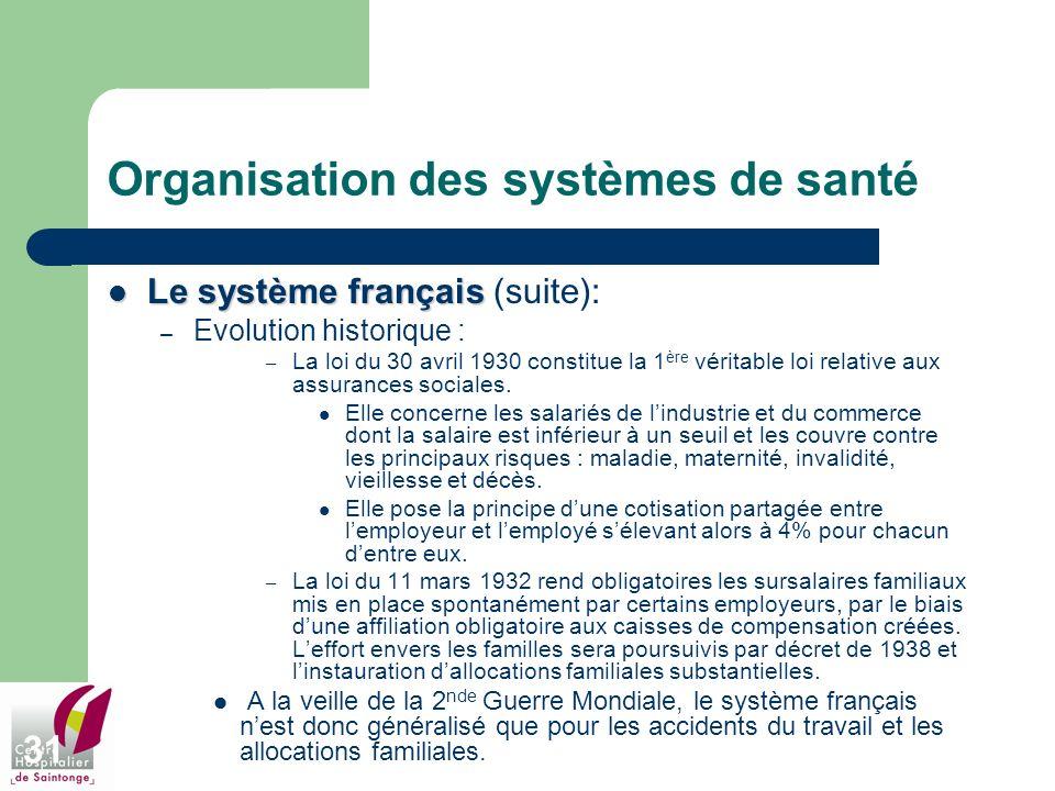 Organisation des systèmes de santé