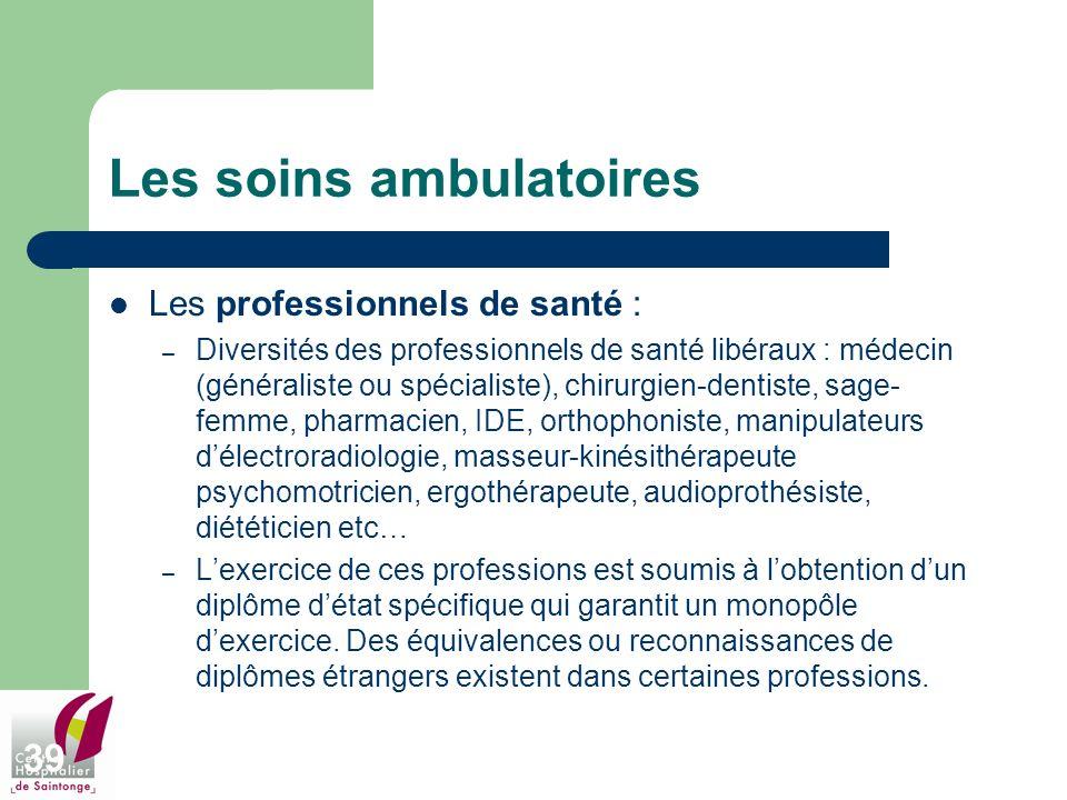 Les soins ambulatoires