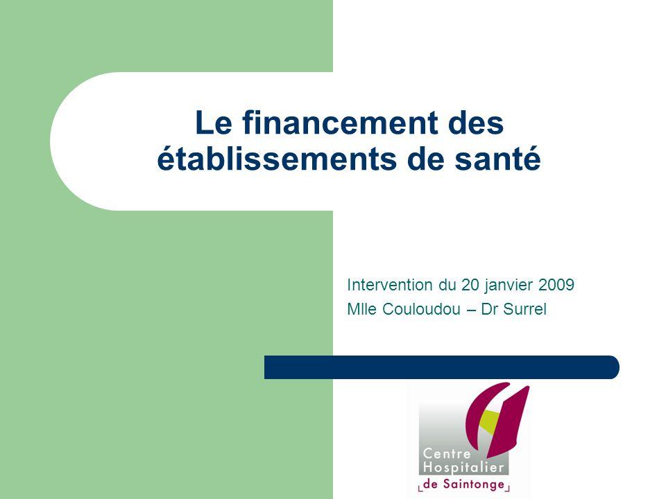 Le financement des établissements de santé