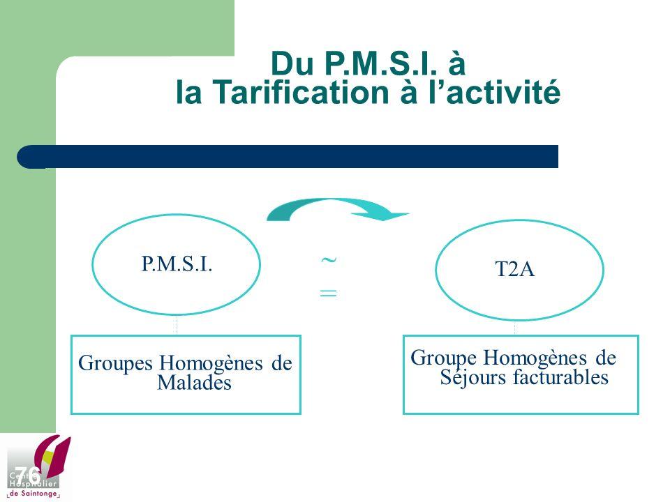 Du P.M.S.I. à la Tarification à l'activité