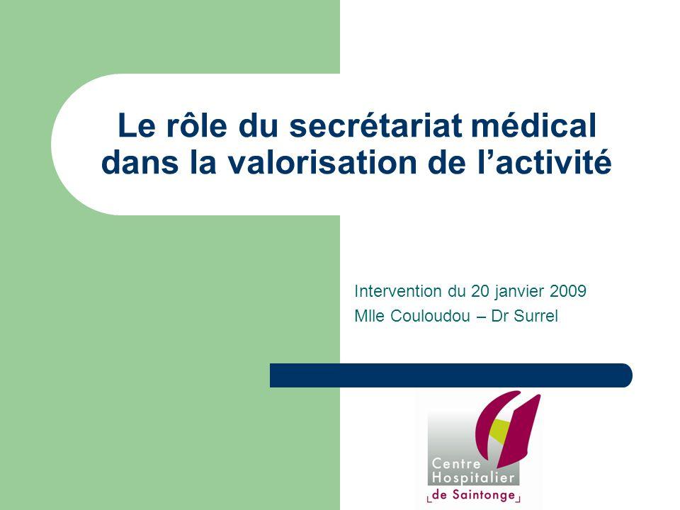 Le rôle du secrétariat médical dans la valorisation de l'activité
