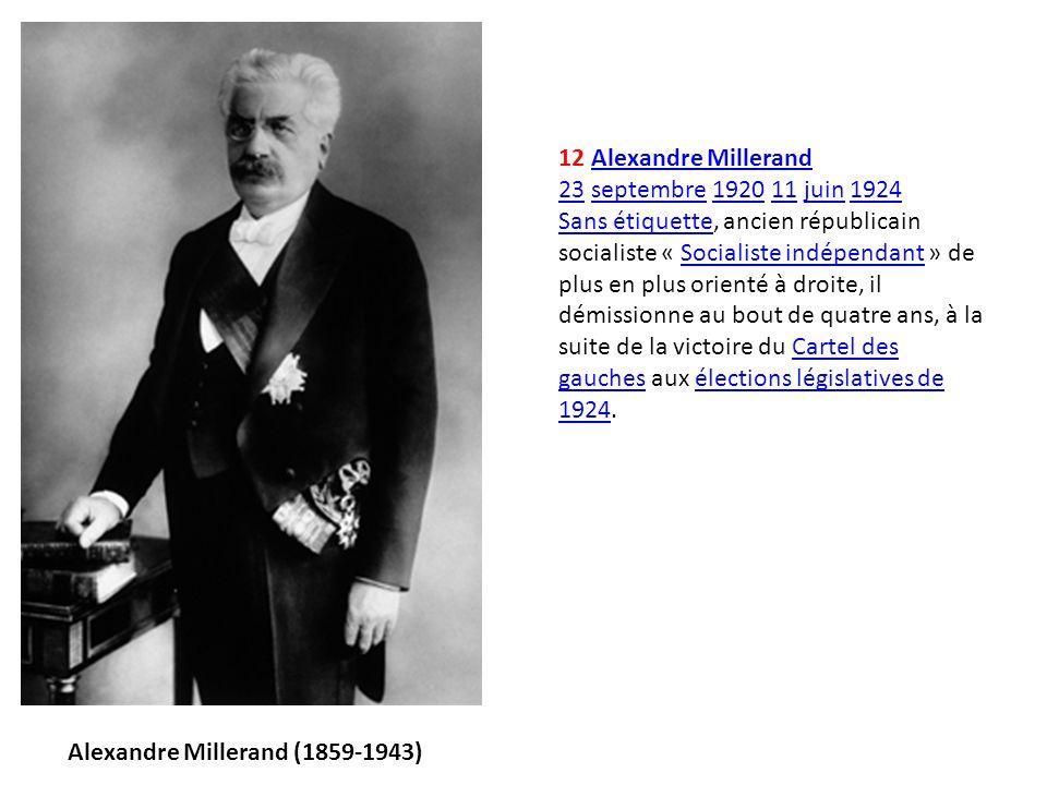 Alexandre Millerand (1859-1943)