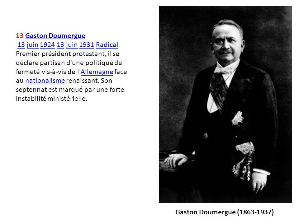 13 Gaston Doumergue