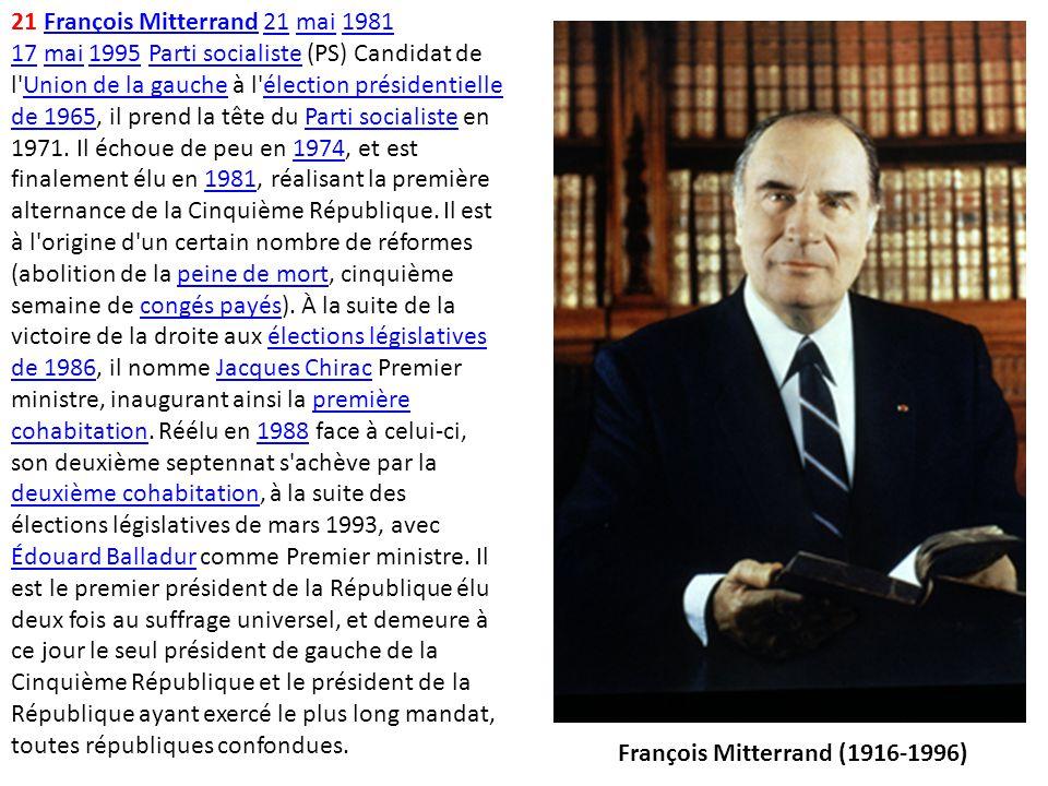 François Mitterrand (1916-1996)
