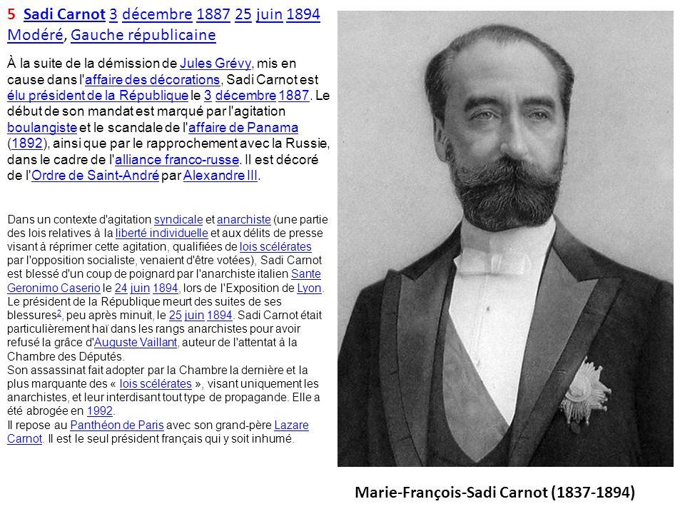 Marie-François-Sadi Carnot (1837-1894)