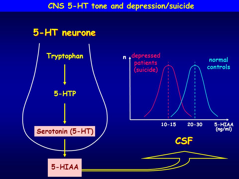 CNS 5-HT tone and depression/suicide