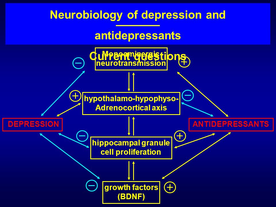 Neurobiology of depression and antidepressants