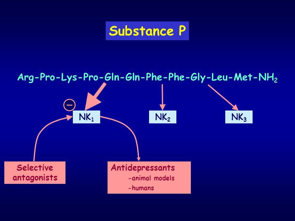 Arg-Pro-Lys-Pro-Gln-Gln-Phe-Phe-Gly-Leu-Met-NH2 Selective antagonists