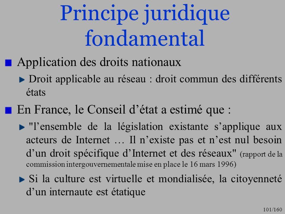 Principe juridique fondamental