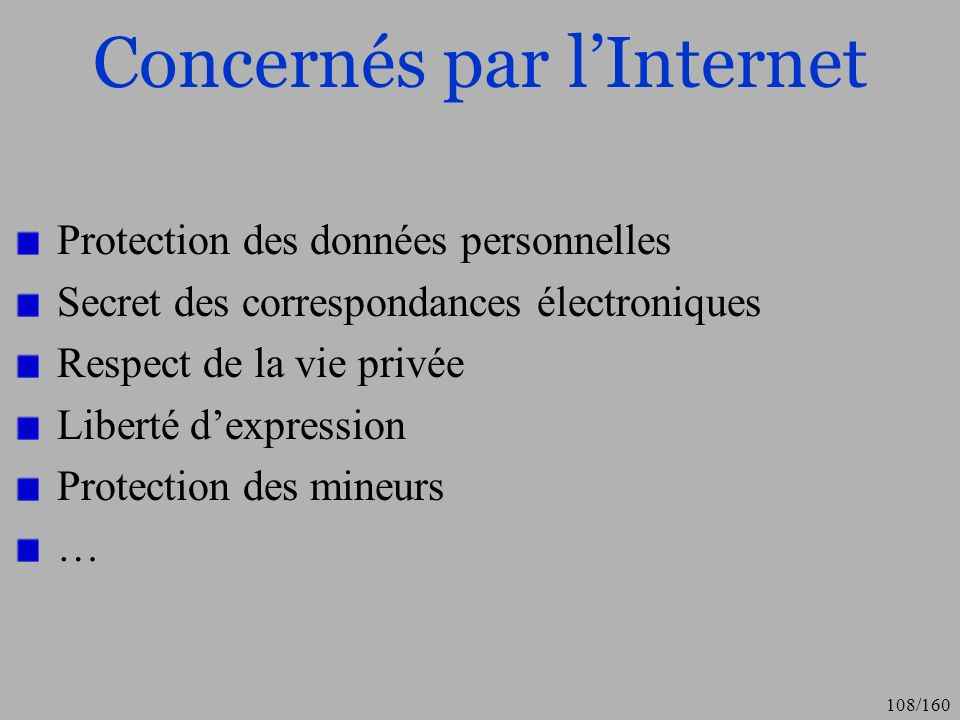 Concernés par l'Internet
