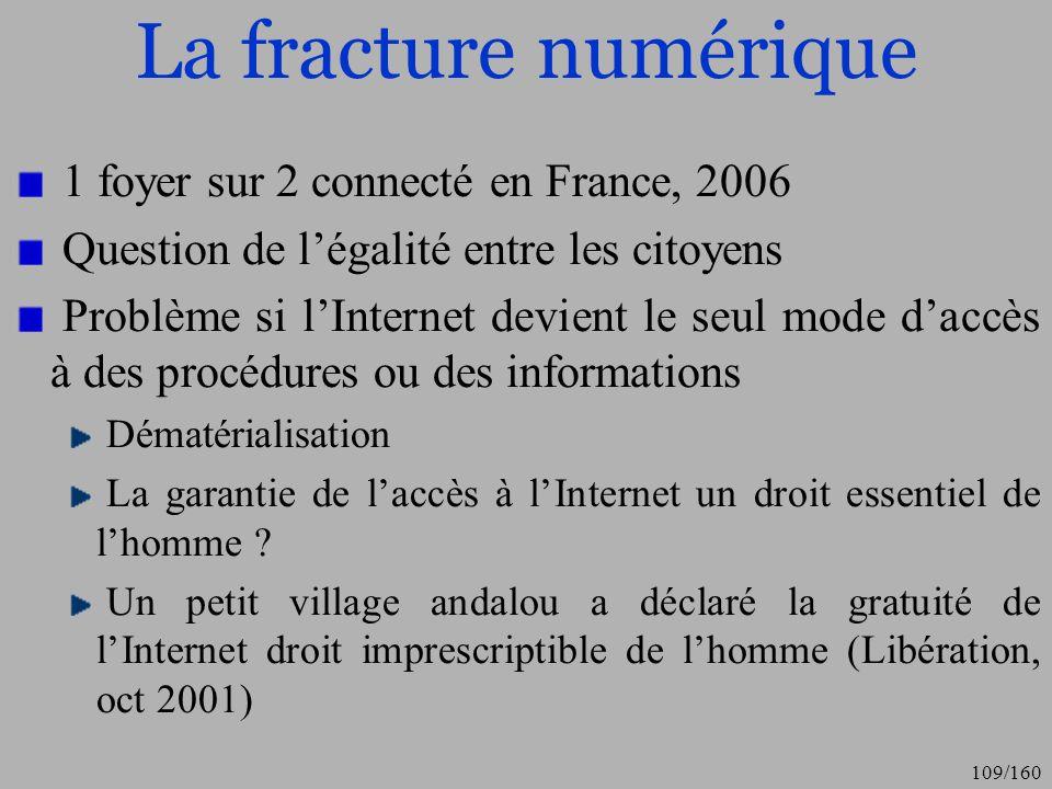 La fracture numérique 1 foyer sur 2 connecté en France, 2006