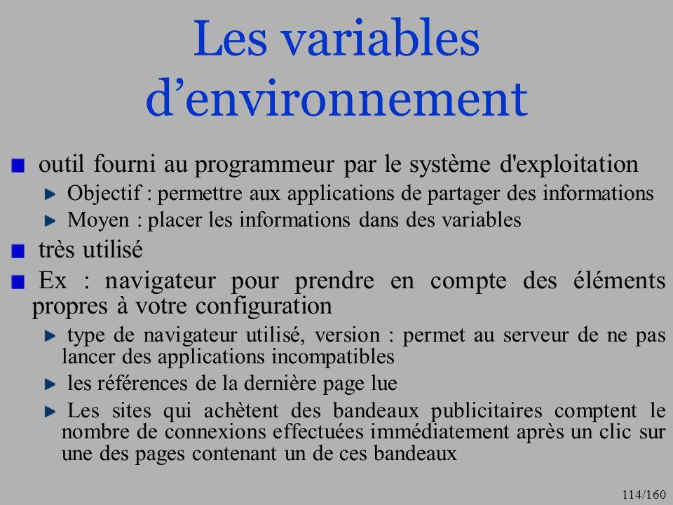 Les variables d'environnement