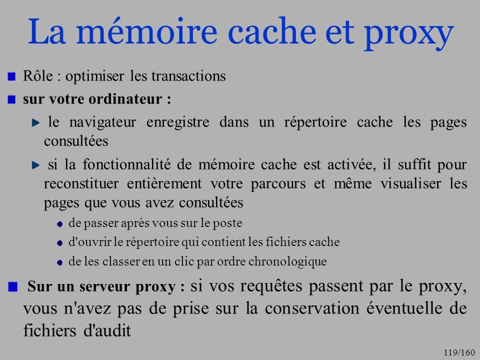 La mémoire cache et proxy
