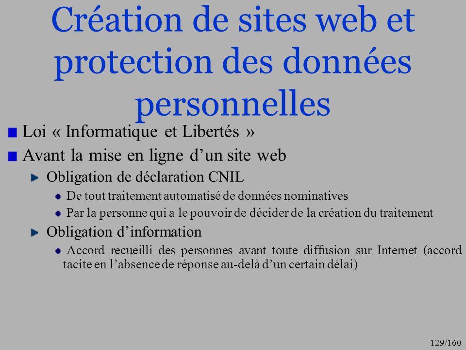 Création de sites web et protection des données personnelles
