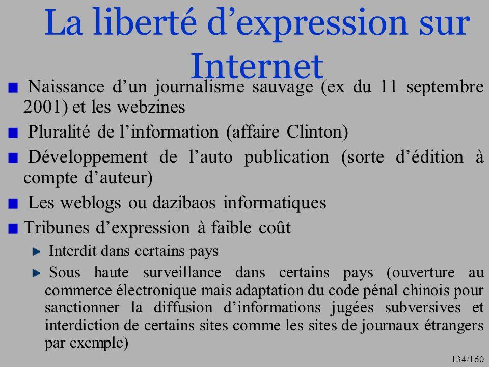 La liberté d'expression sur Internet