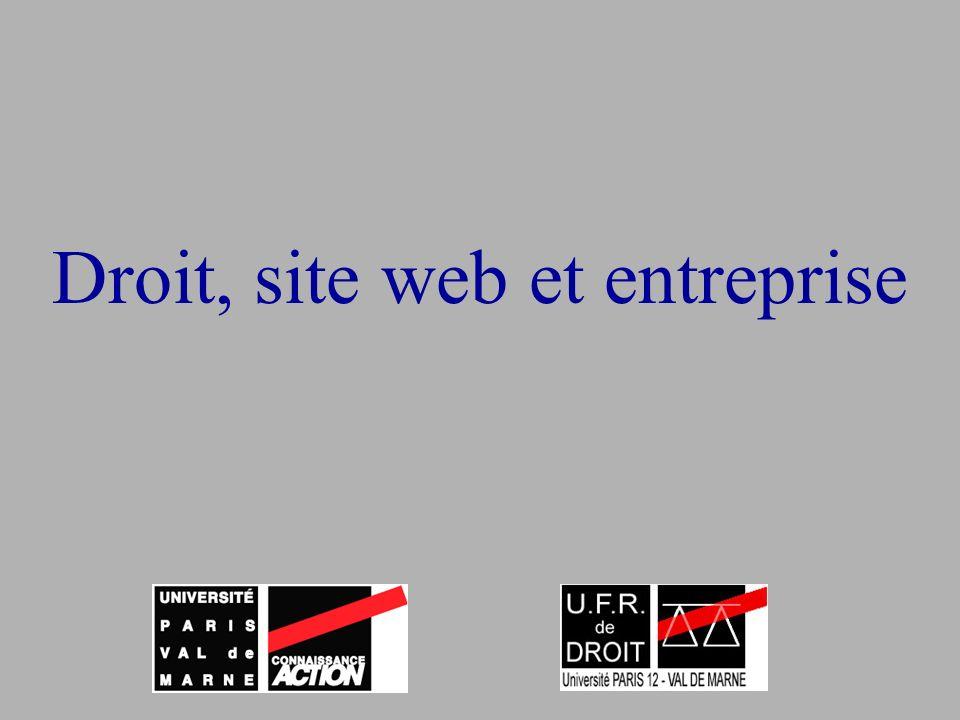 Droit, site web et entreprise