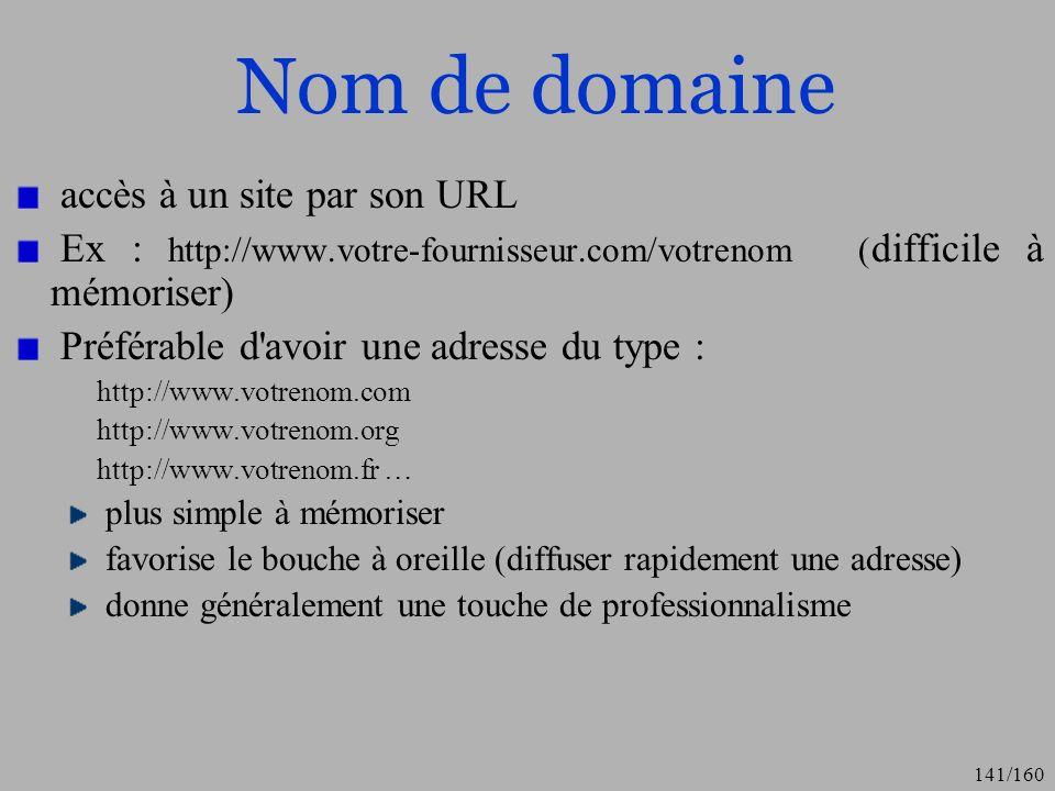 Nom de domaine accès à un site par son URL