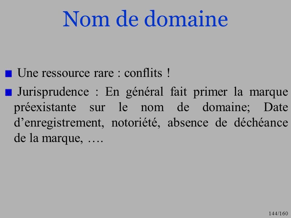 Nom de domaine Une ressource rare : conflits !