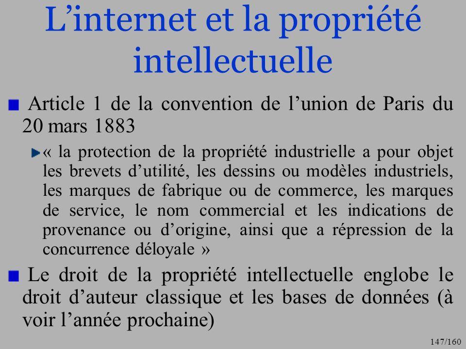 L'internet et la propriété intellectuelle