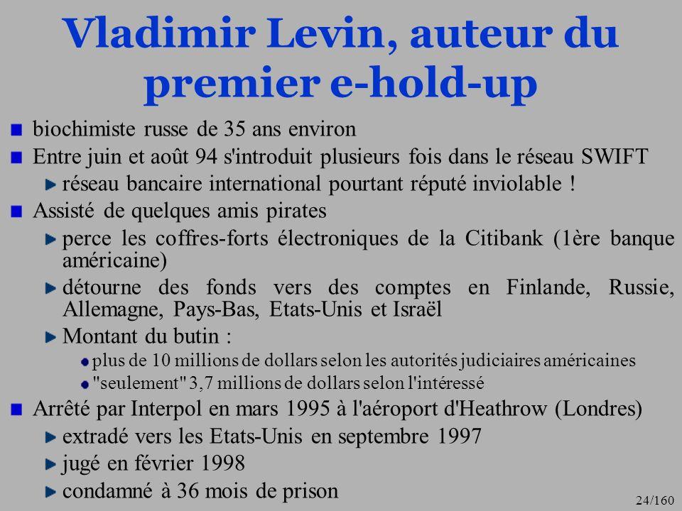 Vladimir Levin, auteur du premier e-hold-up