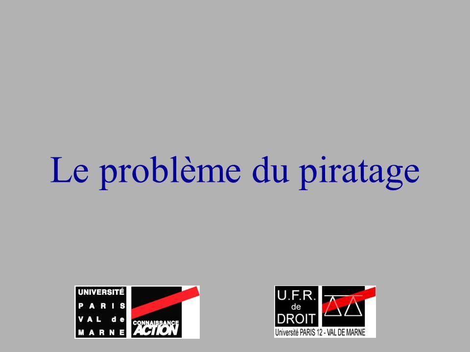 Le problème du piratage
