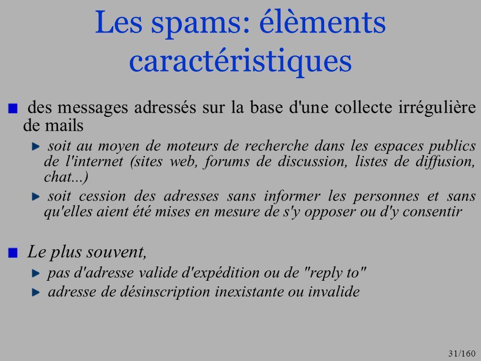 Les spams: élèments caractéristiques