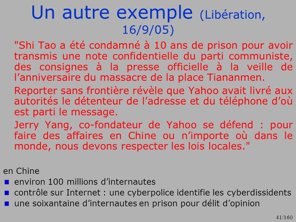 Un autre exemple (Libération, 16/9/05)
