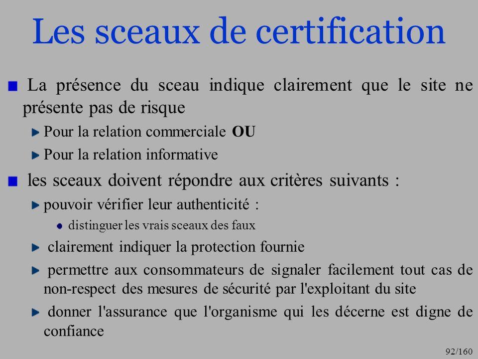 Les sceaux de certification