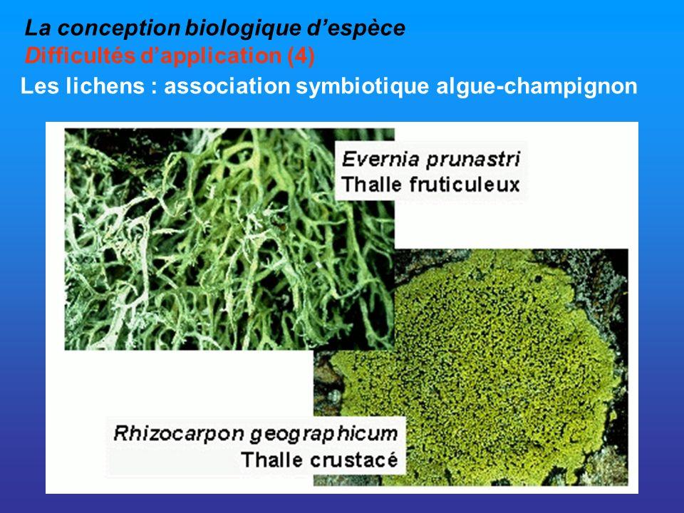 La conception biologique d'espèce Difficultés d'application (4)