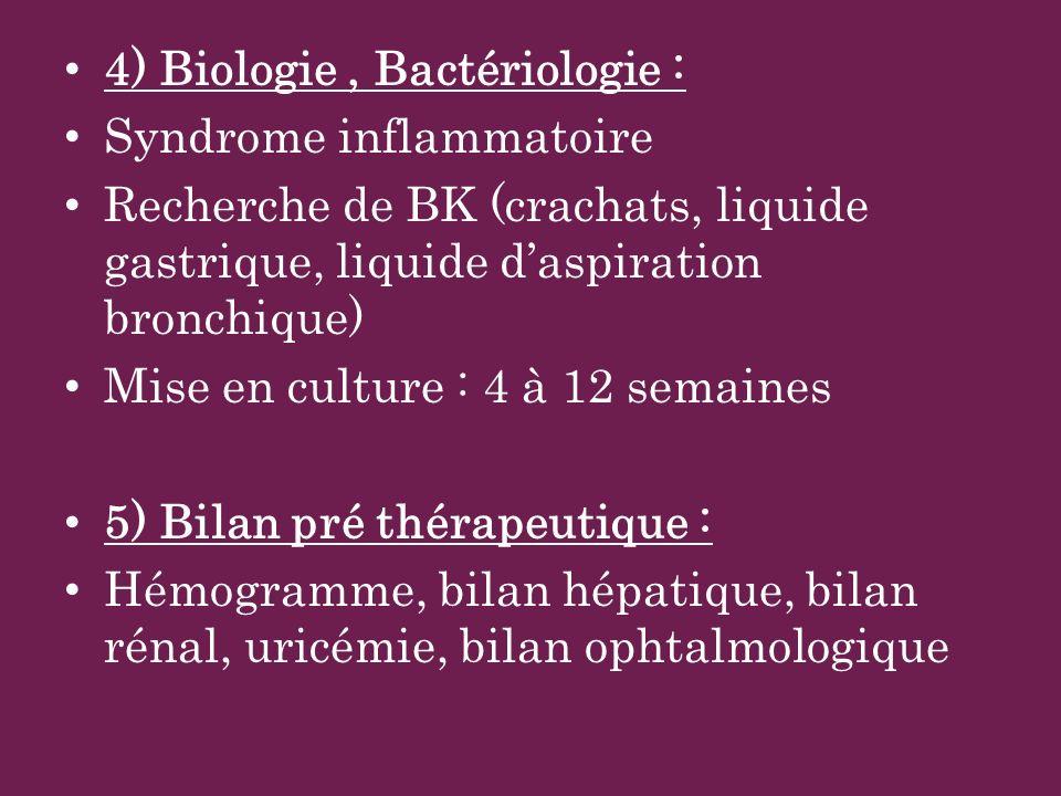 4) Biologie , Bactériologie :