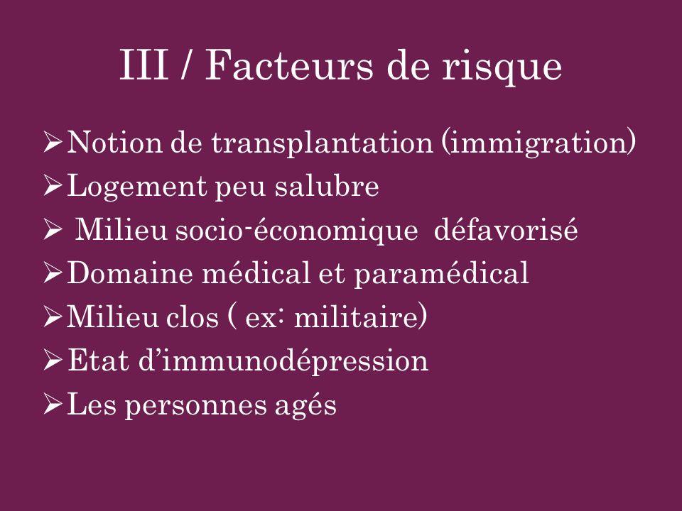 III / Facteurs de risque