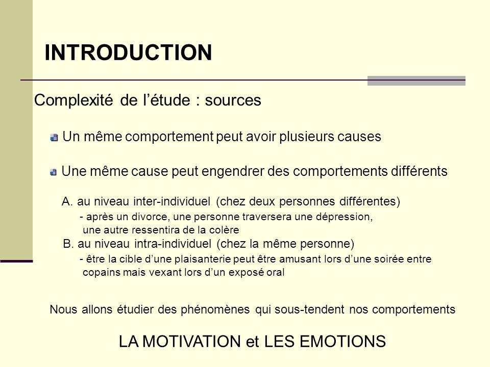 INTRODUCTION Complexité de l'étude : sources