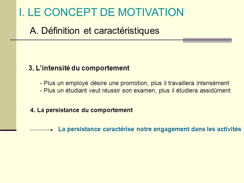 I. LE CONCEPT DE MOTIVATION