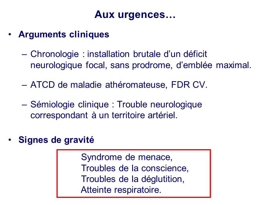 Aux urgences… Arguments cliniques