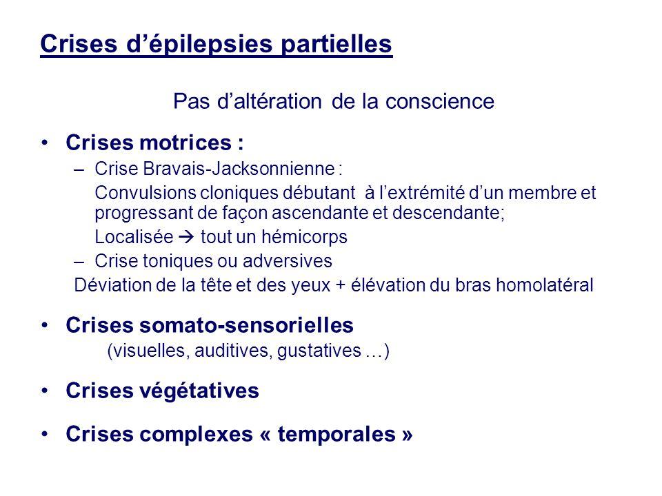 Crises d'épilepsies partielles