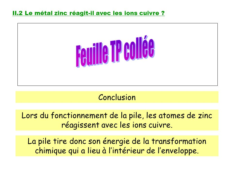 Feuille TP collée Conclusion