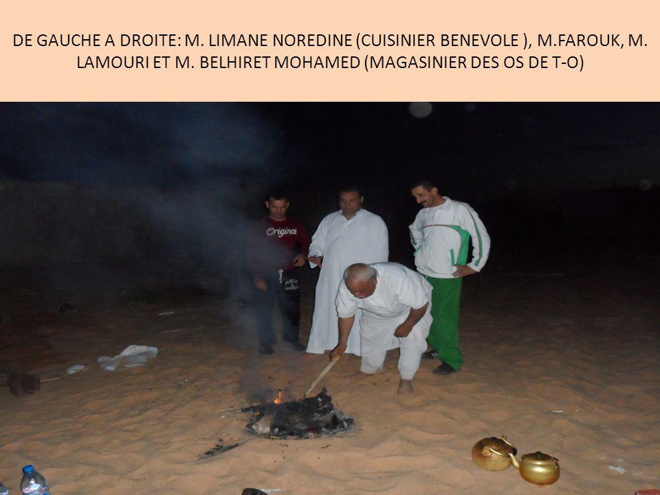DE GAUCHE A DROITE: M. LIMANE NOREDINE (CUISINIER BENEVOLE ), M