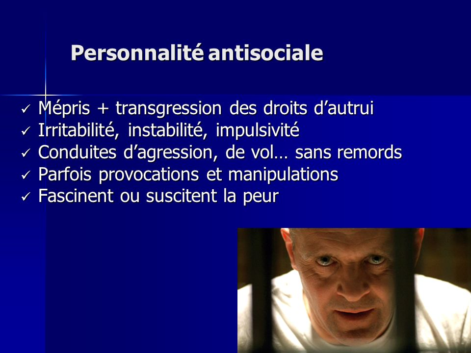 Personnalité antisociale